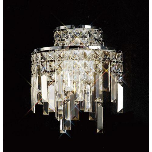 Diyas IL30250 Maddison Crystal Double Wall Lamp Polished Chrome Frame