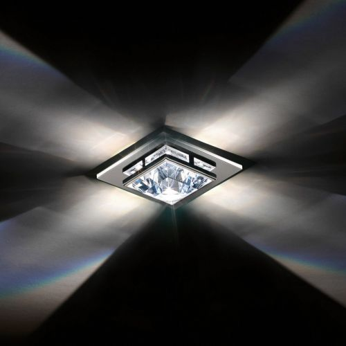 Swarovski Madison Recessed Small Flush Ceiling Fitting Chrome Clear Crystals From Swarovski A9950NR700169