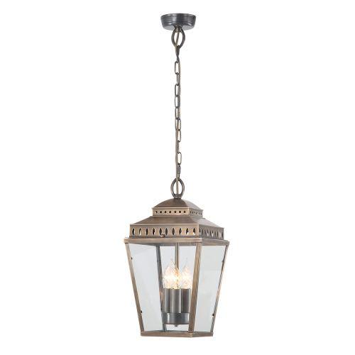 Elstead Mansion House Outdoor Ceiling Lantern Brass ELS/MANSIONHS8 BR