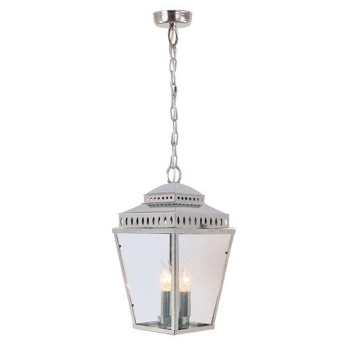 Elstead Mansion House Outdoor Pendant Lantern Polished Nickel ELS/MANSIONHS8 PN