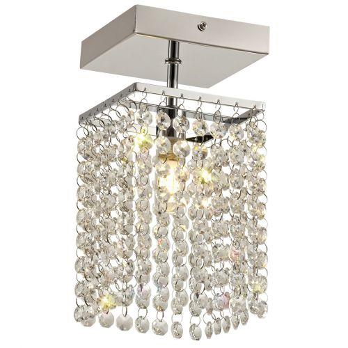 Lekki Mistique Bathroom Ceiling Fitting Light 1 x G9 IP44 Chrome Crystal LEK3190