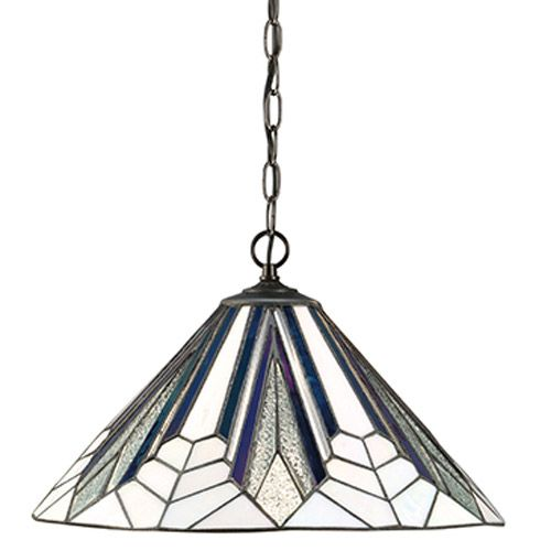 Interiors 1900 Tiffany Astoria Medium 1 Light Pendant 63937