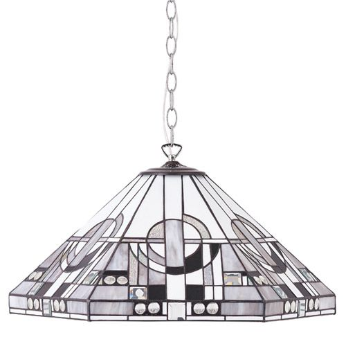 Interiors 1900 Tiffany Metropolitan Medium 1 light Pendant 64259