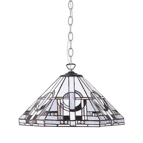 Interiors 1900 Tiffany Metropolitan Large 3 Light Pendant 70895