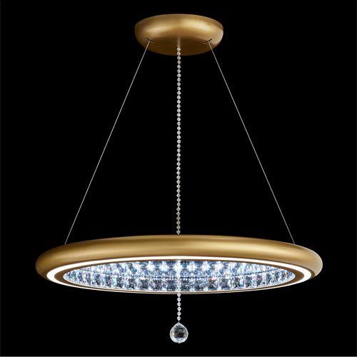 Swarovski MFC300 Infinite Aura LED Crystal Pendant Gold Frame