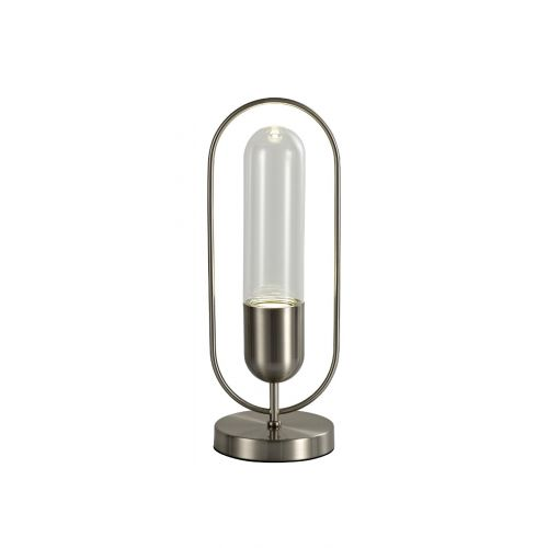 Lekki Nifty Table Lamp 7W LED 4000K 790lm Satin Nickel Clear LEK3228