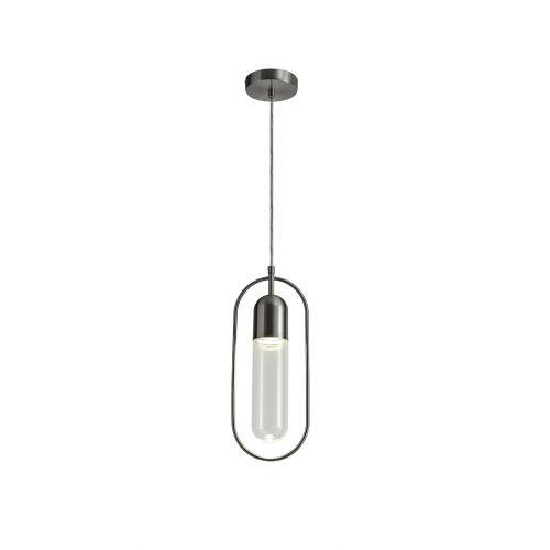 Lekki Nifty Pendant Light Fitting 7W LED 4000K 790lm Satin Nickel Clear LEK3231
