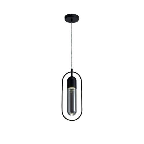 Lekki Nifty Pendant Light Fitting 7W LED 4000K 790lm Black Smoked LEK3232