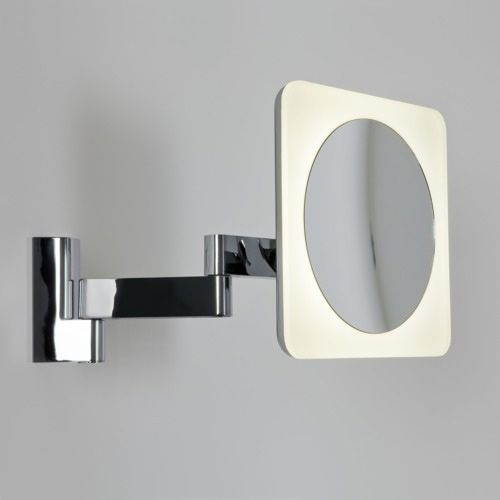Astro Niimi LED Square 5x Magnifying Mirror 0815 Polished Chrome