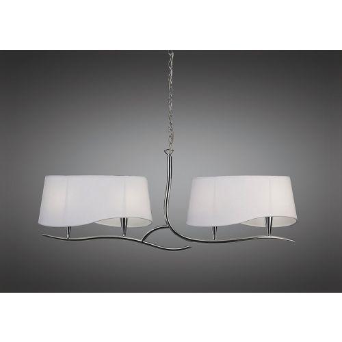 Mantra Ninette Polished Chrome White Shades Ceiling Fitting M1901