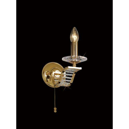 Diyas IL30441 Niobe Wall Lamp 1 Light French Gold Crystal