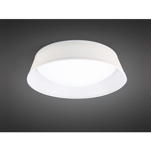 Mantra M4961 Nordica 21W Flush Ceiling Fitting LED 45CM White Acrylic Ivory Shade