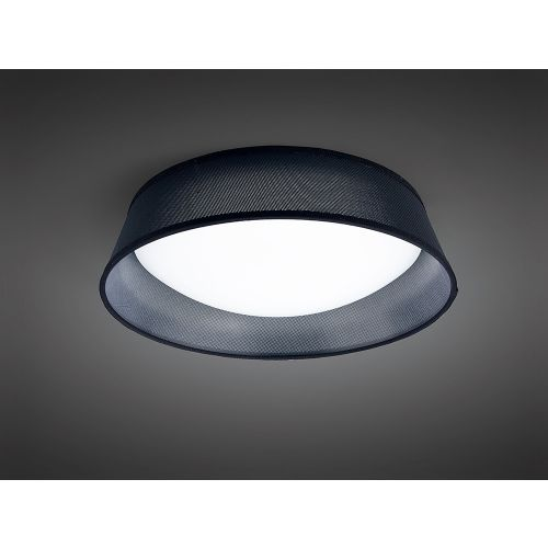 Mantra M4965 Nordica Flush Ceiling Fitting 21W LED 45CM White Acrylic Black Shade