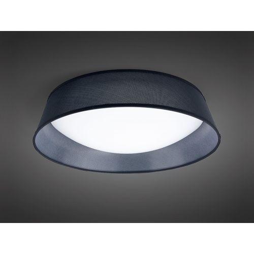 Mantra M4966E Nordica 5 Light Flush Ceiling Fitting 60cm White Acrylic Black Shade