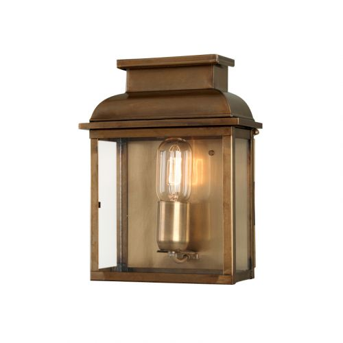 Elstead OLD BAILEY BR Old Bailey 1Lt Aged Brass Outdoor Wall Lantern