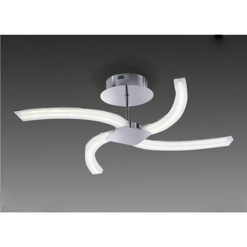 Mantra On 4 Light Polished Chrome LED Semi-Flush M3561