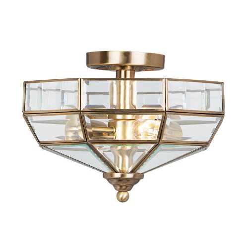 Elstead OLD-PARK-AB Old Park 2Lt Antique Brass Ceiling Light