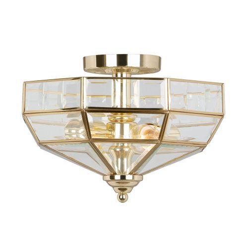 Elstead OLD-PARK-PB Old Park 2Lt Polished Brass Ceiling Light