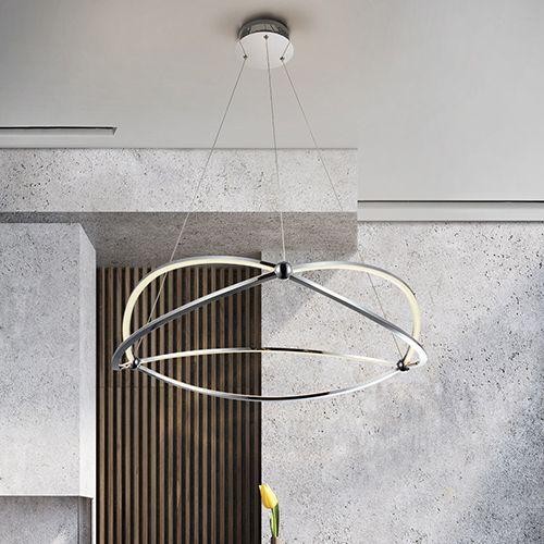 Schuller Ocellis 757355 LED Large Ceiling Pendant Chrome