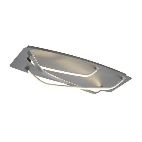 Mantra M5572 Papau 1Lt LED Silver Flush Ceiling Light