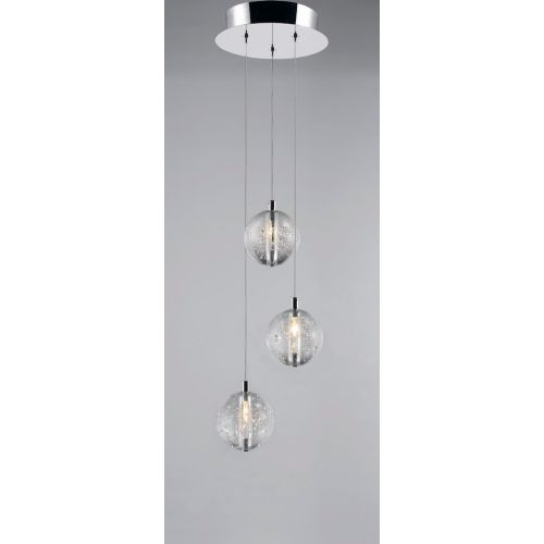 Avivo Bubbles PD1302-3A CH/CL 3 Light Pendant Chrome Clear Glass Ceiling Fitting