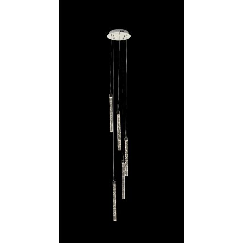 Avivo Cascade PD1609-5A CH 5 Light Pendant LED Chrome Ceiling Fitting