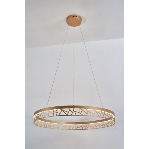 Avivo Mosaic PD18022-80-1A MG 1 Light LED Pendant Matte Gold Ceiling Fitting