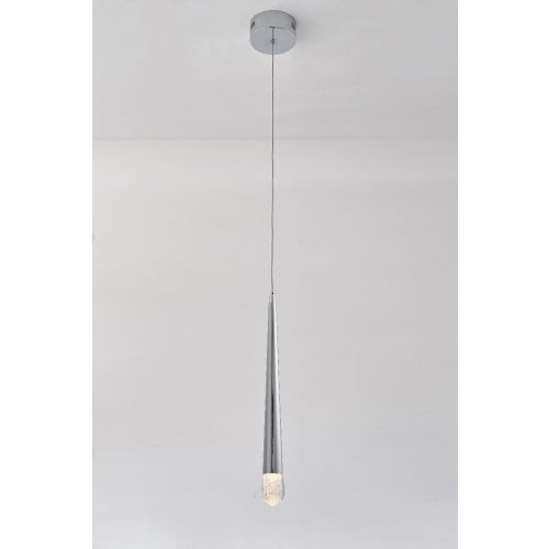 Avivo Droplet PD2309-1A CH 1 Light LED Pendant Chrome Ceiling Fitting