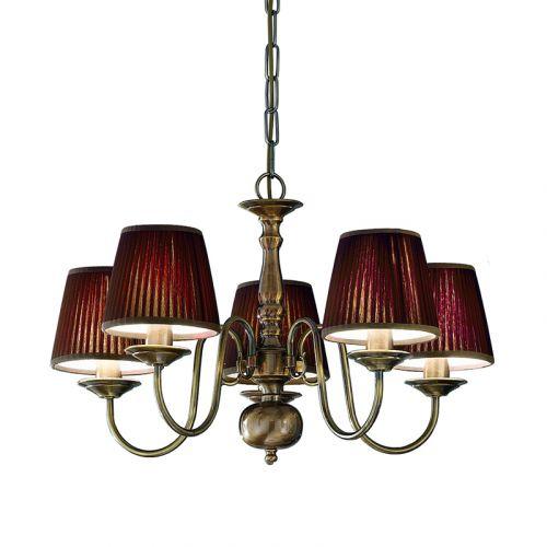 Franklite Halle 5 Light Bronzed Brass Ceiling Fitting PE7935