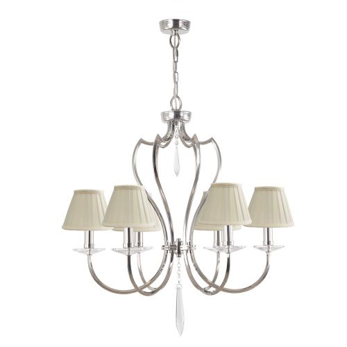 Elstead Pimlico 6 Light Polished nickel Ceiling Fitting PM6