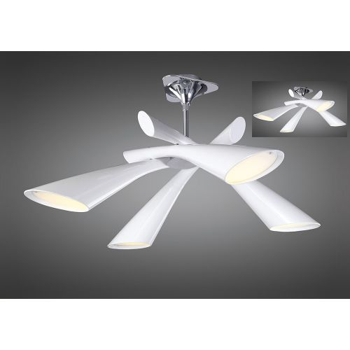 Mantra M0921 Pop Ceiling Semi Flush Convertible 4 Light E27 Gloss Acrylic Polished Chrome