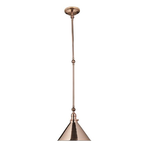 Elstead PV/GWP CPR Provence 1Lt Polished Copper Adjustable Pendant Wall Light