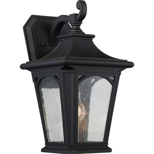 Quoizel Bedford Medium Outdoor Wall Lantern Mystic Black ELS/QZ/BEDFORD2/M