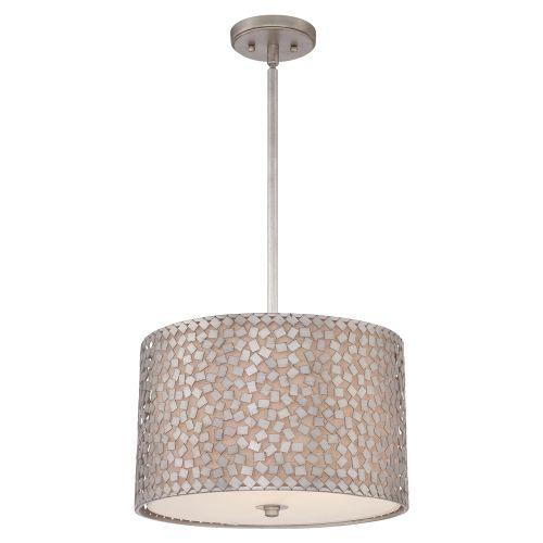 Quoizel QZ/CONFETTI/P/M Confetti 3Lt Old Silver Medium Ceiling Pendant