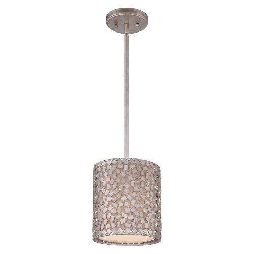Quoizel QZ/CONFETTI/P/S Confetti 1 Light Old Silver Ceiling Mini Pendant
