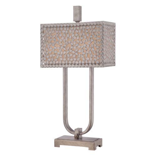 Quoizel QZ/CONFETTI/TL Confetti 2Lt Old Silver Table Lamp