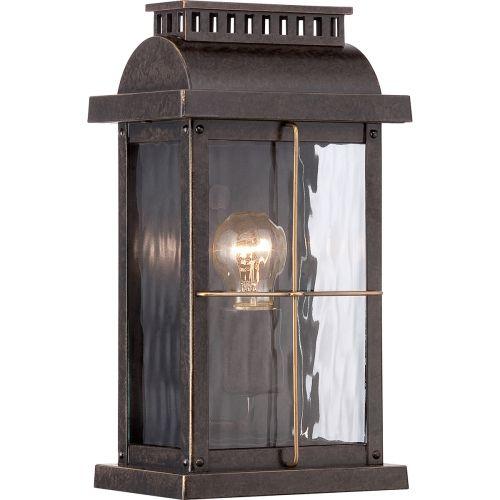 Quoizel QZ/CORTLAND/S Cortland 1Lt Imperial Bronze Outdoor Wall Lantern