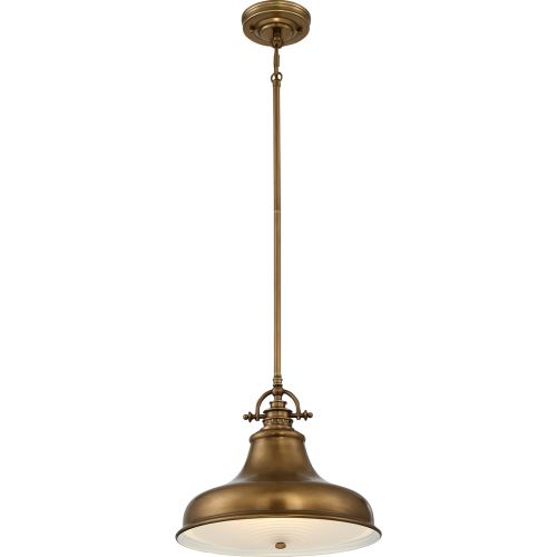 Quoizel Emery 1 Light Weathered Brass Pendant QZ/EMERY/P/M WS