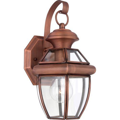 Quoizel Newbury Small Outdoor Wall Lantern Aged Copper QZ/NEWBURY2/S AC