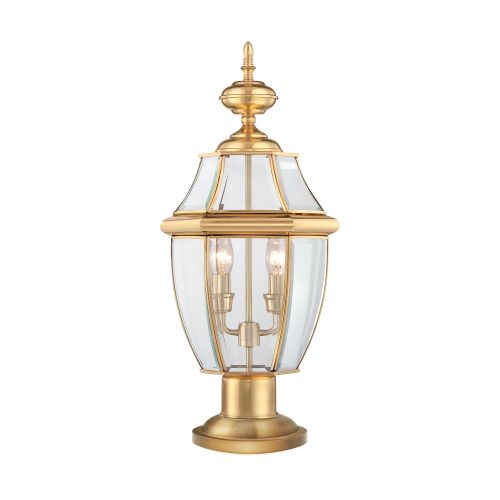 Quoizel Newbury Outdoor Pedestal Light Polished Brass ELS/QZ/NEWBURY3/L
