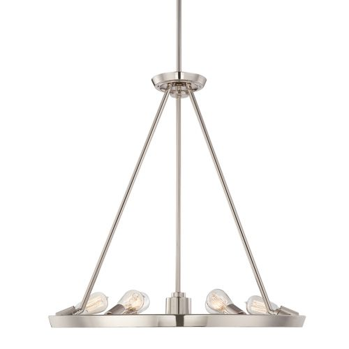Quoizel Theater Row QZ/THEATERROW6IS Ceiling Pendant 7 Light Imperial Silver