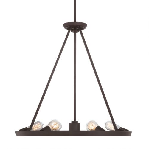 Quoizel Theater Row QZ/THEATERROW6WT Ceiling Pendant 7 Light Western Bronze