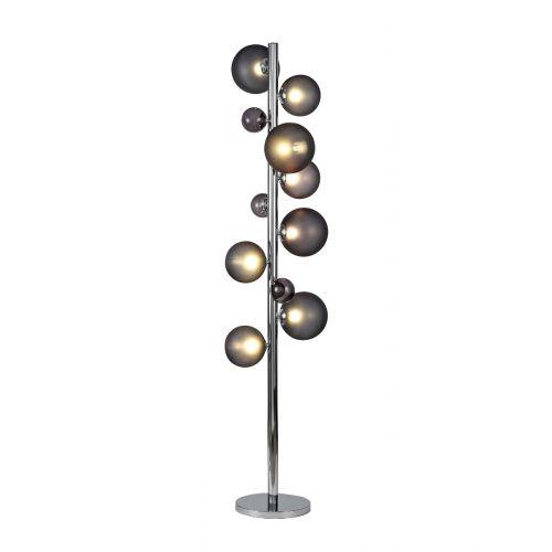 Lekki Rocco Floor Lamp 8 x G9 Chrome Smoked Glass LEK3251