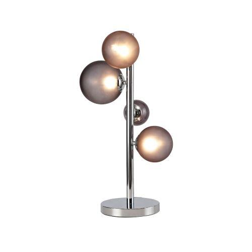 Lekki Rocco Table Lamp 3 x G9 Chrome Smoked Glass LEK3252