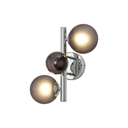 Lekki Rocco Wall Lamp 2 x G9 Chrome Smoked Glass LEK3253