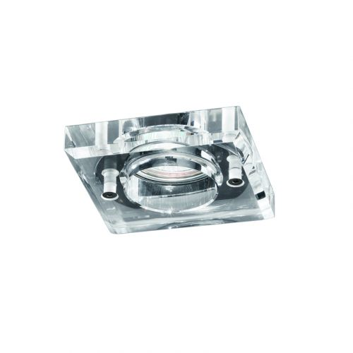 Franklite Glass Bathroom Recessed Downlight RF265 Polished Chrome