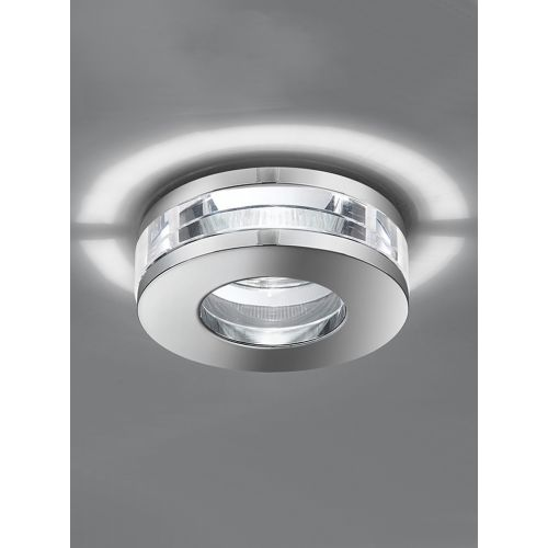 Franklite Crystal Glass Bathroom Recessed Downlight Polished Chrome RF266