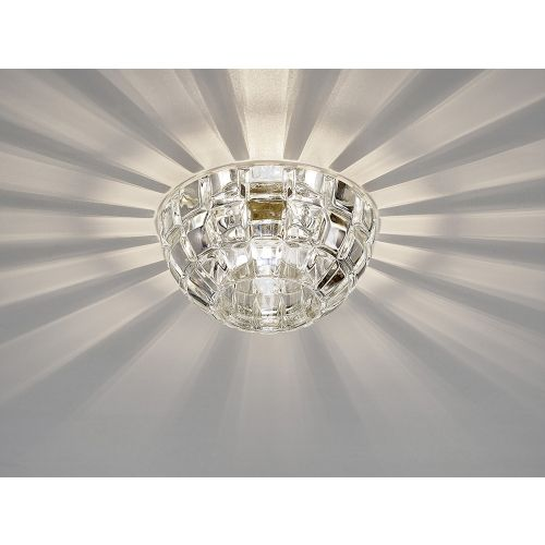 Diyas IL31840CH Ria G9 Dome Downlight Polished Chrome Crystal