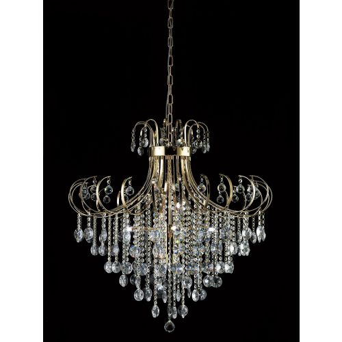 Diyas IL32058 Rosina Pendant 8 Light French Gold Crystal