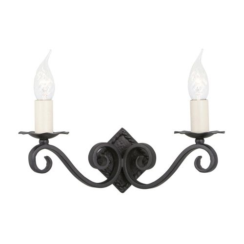 Elstead Rectory Black 2 Light Wall Light RY2A